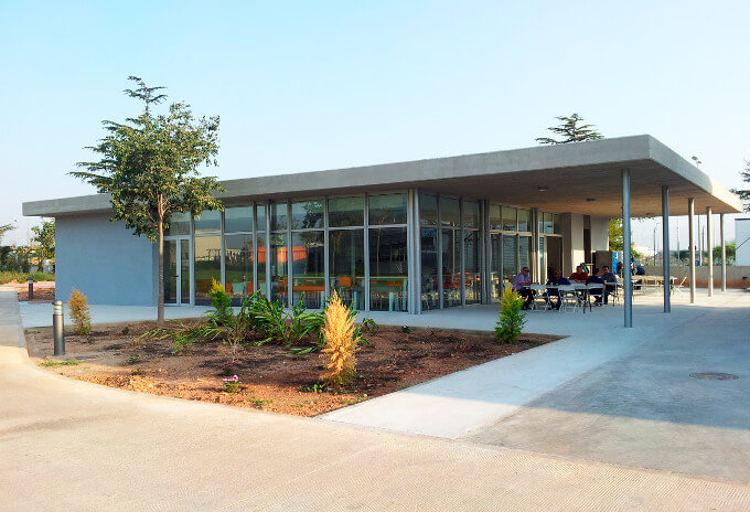 Construcción de la cafetería de la ONU
